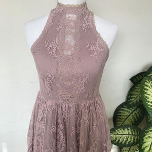 Free People Rose Lace Party Dress